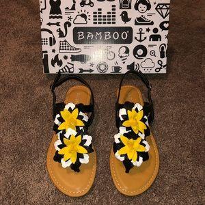 Bamboo Floral Sandal